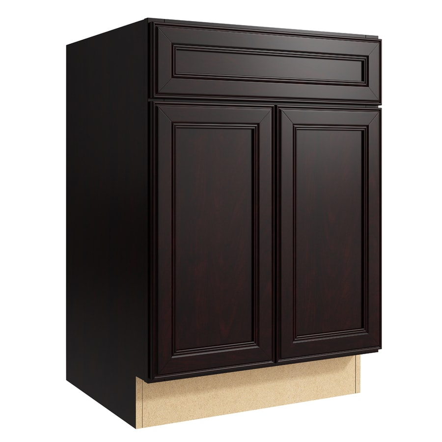 KraftMaid Momentum Kona Bellamy 2-Door Base Cabinet (Common: 24-in x 21-in x 34.5-in; Actual: 24-in x 21-in x 34.5-in)
