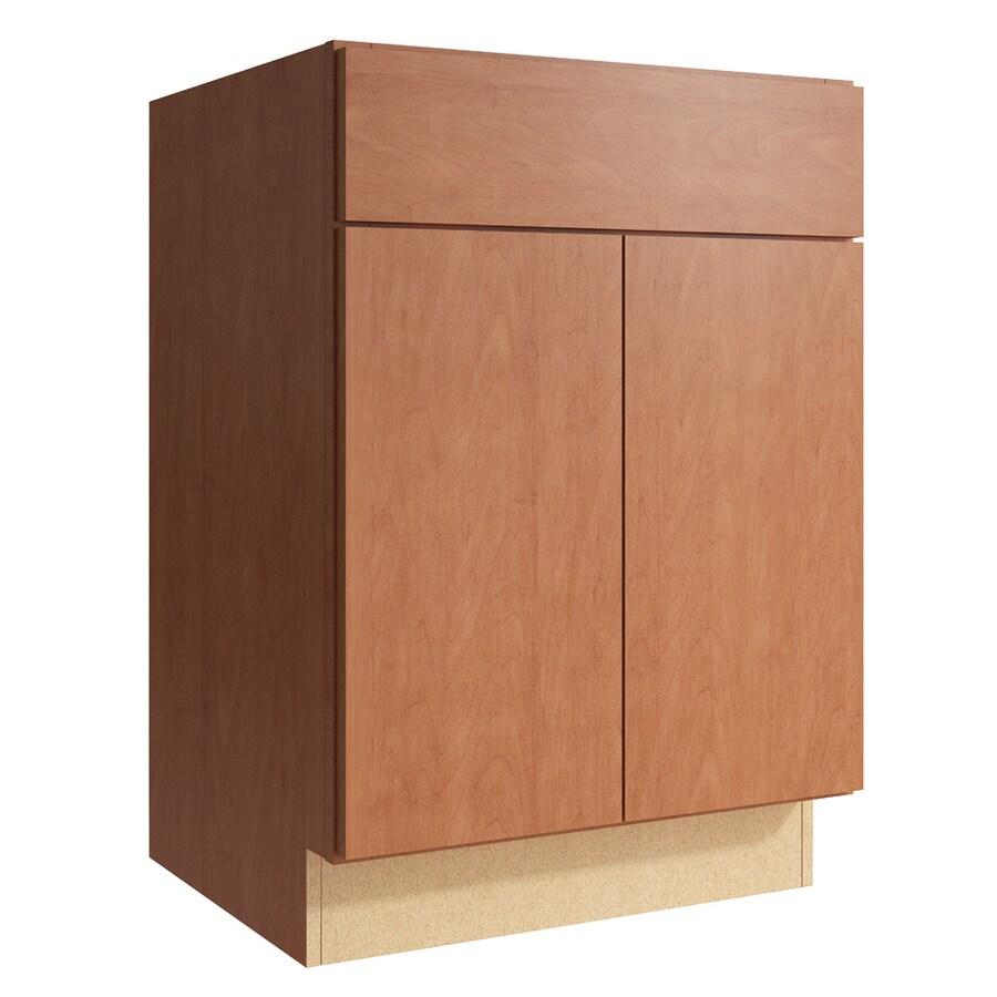 KraftMaid Momentum Hazelnut Frontier 2-Door Base Cabinet (Common: 24-in x 21-in x 34.5-in; Actual: 24-in x 21-in x 34.5-in)