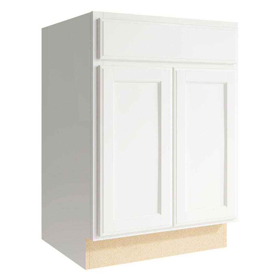 KraftMaid Momentum Cotton Kingston 2-Door Base Cabinet (Common: 24-in x 21-in x 34.5-in; Actual: 24-in x 21-in x 34.5-in)