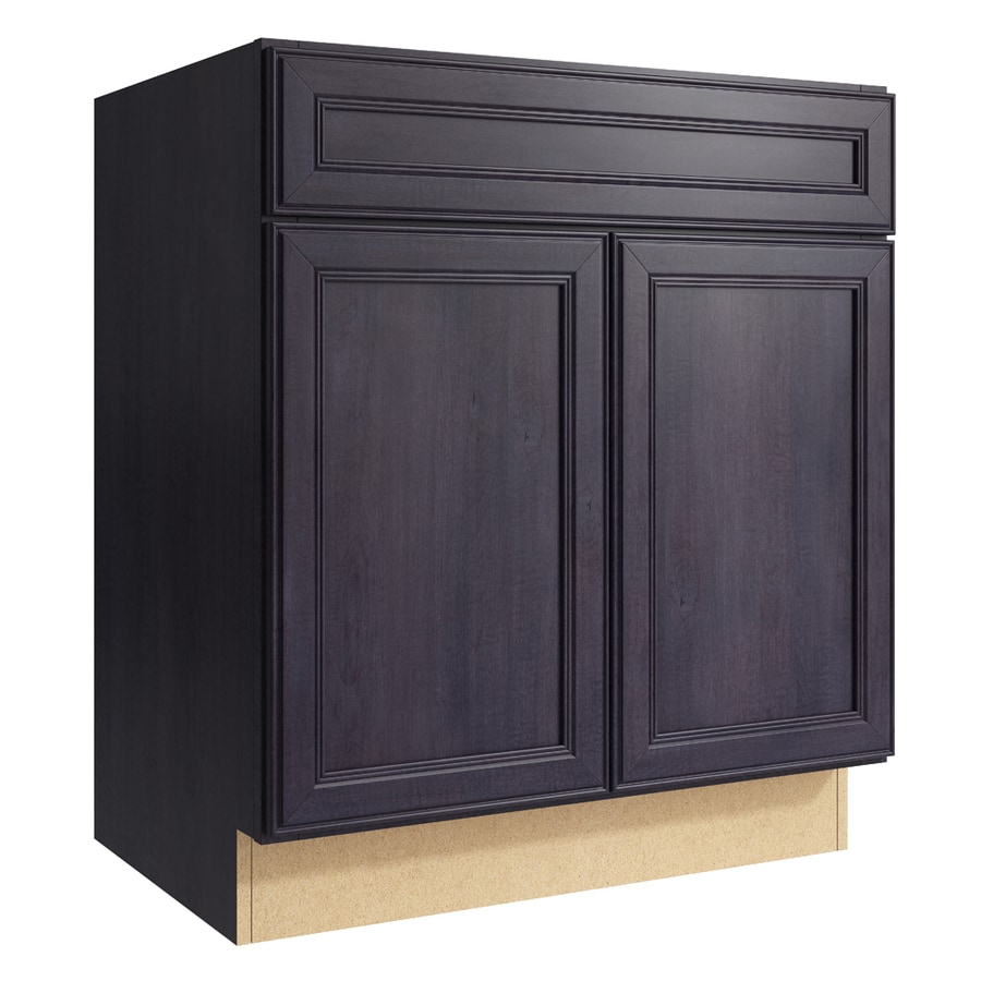 KraftMaid Momentum Dusk Bellamy 2-Door Base Cabinet (Common: 30-in x 21-in x 34.5-in; Actual: 30-in x 21-in x 34.5-in)