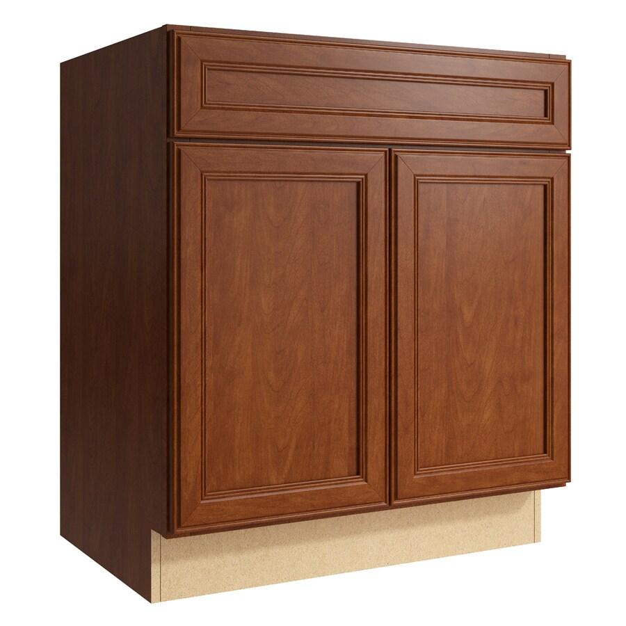 KraftMaid Momentum Sable Bellamy 2-Door Base Cabinet (Common: 30-in x 21-in x 34.5-in; Actual: 30-in x 21-in x 34.5-in)