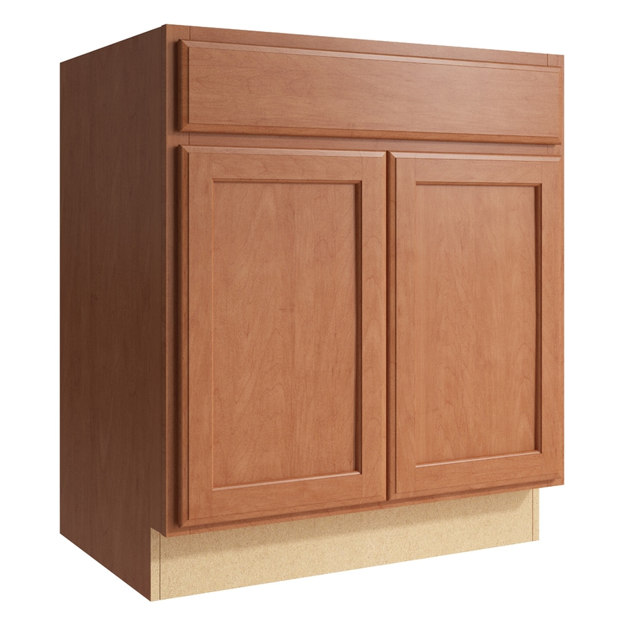 KraftMaid Momentum Hazelnut Kingston 2-Door Base Cabinet (Common: 30-in x 21-in x 34.5-in; Actual: 30-in x 21-in x 34.5-in)