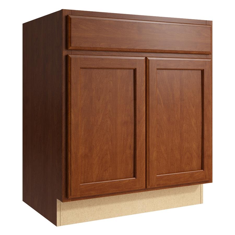 KraftMaid Momentum Sable Kingston 2-Door Base Cabinet (Common: 30-in x 21-in x 34.5-in; Actual: 30-in x 21-in x 34.5-in)
