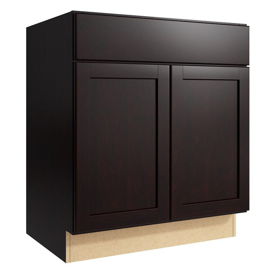 KraftMaid Momentum Kona Paxton 2-Door Base Cabinet (Common: 30-in x 21-in x 34.5-in; Actual: 30-in x 21-in x 34.5-in)