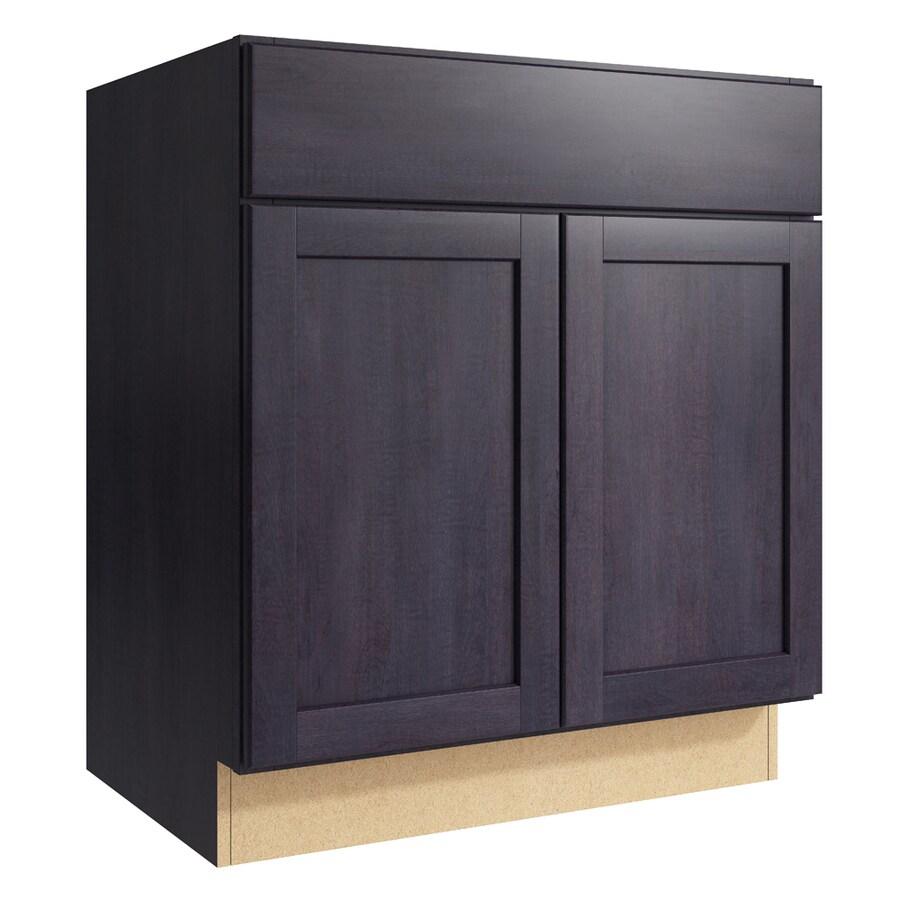 KraftMaid Momentum Dusk Paxton 2-Door Base Cabinet (Common: 30-in x 21-in x 34.5-in; Actual: 30-in x 21-in x 34.5-in)