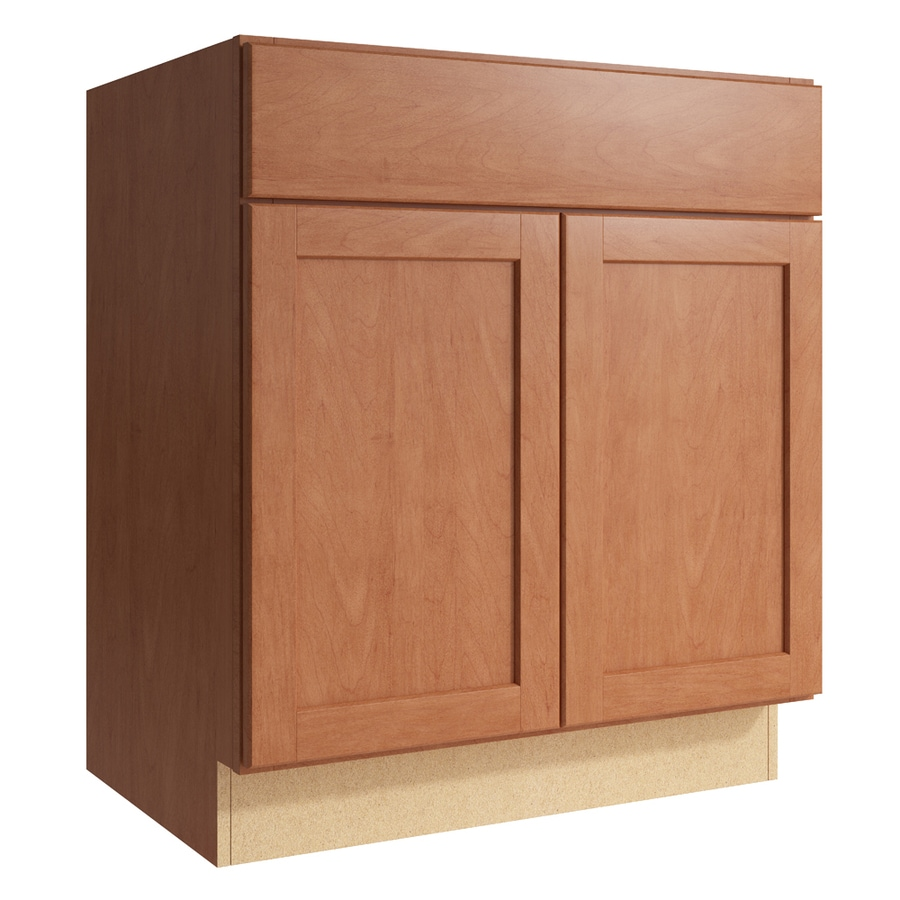 KraftMaid Momentum Hazelnut Paxton 2-Door Base Cabinet (Common: 30-in x 21-in x 34.5-in; Actual: 30-in x 21-in x 34.5-in)