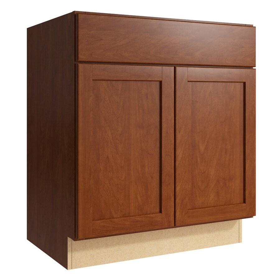 KraftMaid Momentum Sable Paxton 2-Door Base Cabinet (Common: 30-in x 21-in x 34.5-in; Actual: 30-in x 21-in x 34.5-in)