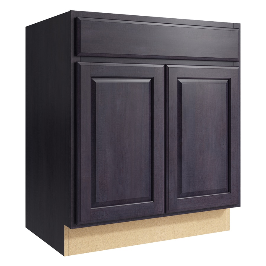 KraftMaid Momentum Dusk Settler 2-Door Base Cabinet (Common: 30-in x 21-in x 34.5-in; Actual: 30-in x 21-in x 34.5-in)