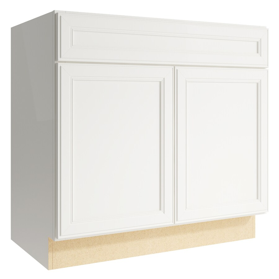 KraftMaid Momentum Cotton Bellamy 2-Door Base Cabinet (Common: 36-in x 21-in x 34.5-in; Actual: 36-in x 21-in x 34.5-in)