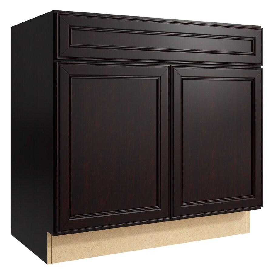 KraftMaid Momentum Kona Bellamy 2-Door Base Cabinet (Common: 36-in x 21-in x 34.5-in; Actual: 36-in x 21-in x 34.5-in)