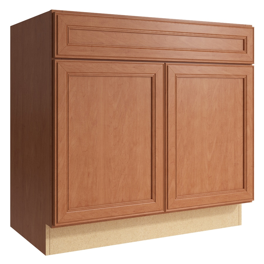 KraftMaid Momentum Hazelnut Bellamy 2-Door Base Cabinet (Common: 36-in x 21-in x 34.5-in; Actual: 36-in x 21-in x 34.5-in)
