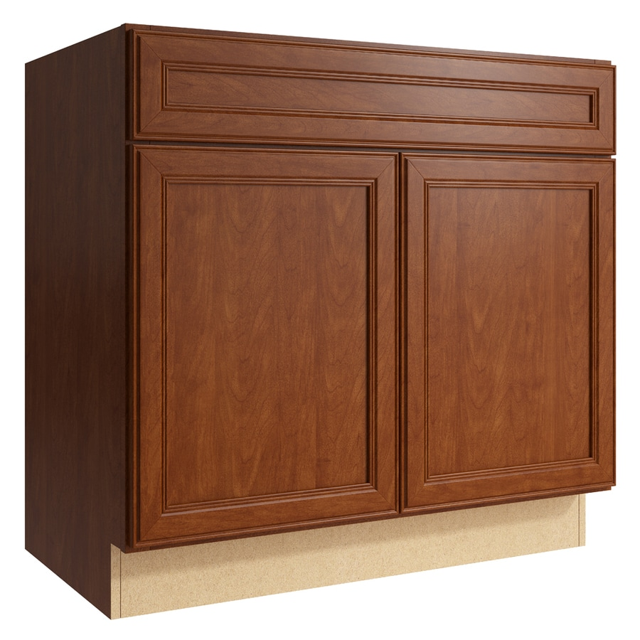 KraftMaid Momentum Sable Bellamy 2-Door Base Cabinet (Common: 36-in x 21-in x 34.5-in; Actual: 36-in x 21-in x 34.5-in)