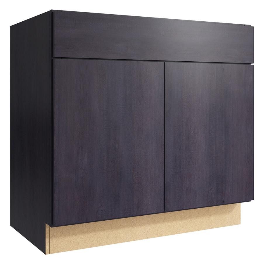 KraftMaid Momentum Dusk Frontier 2-Door Base Cabinet (Common: 36-in x 21-in x 34.5-in; Actual: 36-in x 21-in x 34.5-in)