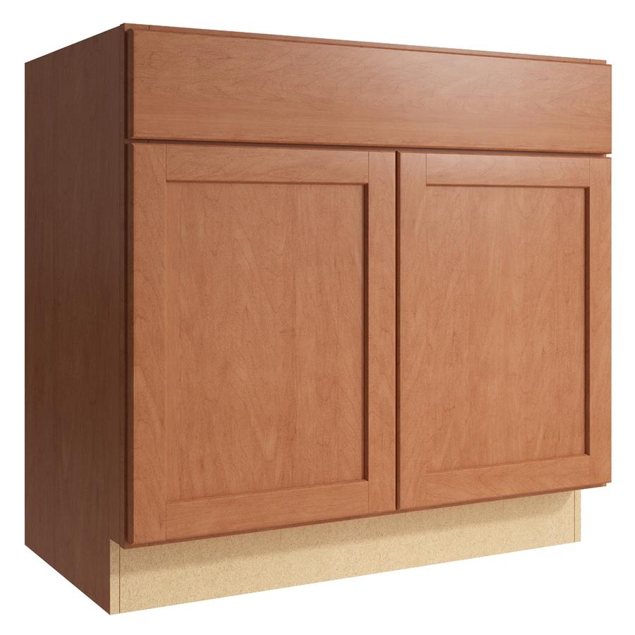 KraftMaid Momentum Hazelnut Paxton 2-Door Base Cabinet (Common: 36-in x 21-in x 34.5-in; Actual: 36-in x 21-in x 34.5-in)