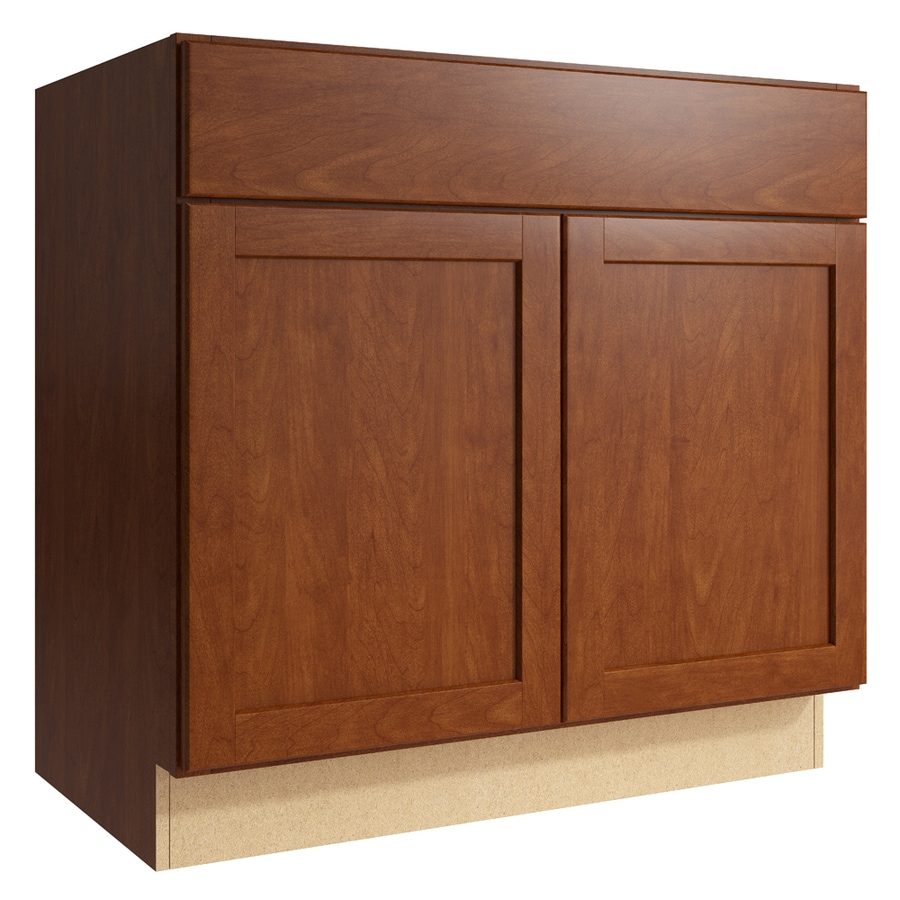KraftMaid Momentum Sable Paxton 2-Door Base Cabinet (Common: 36-in x 21-in x 34.5-in; Actual: 36-in x 21-in x 34.5-in)