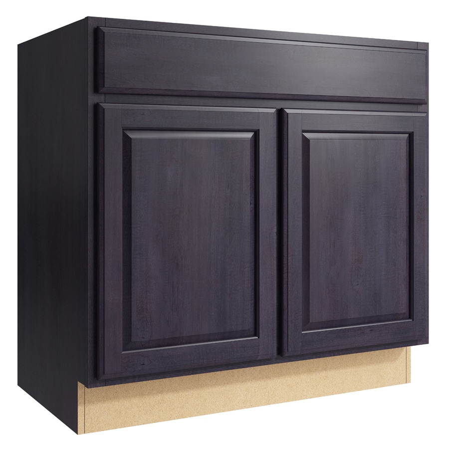 Merrilat Dusk Color Cabinets: Shop KraftMaid Momentum Settler 36-in Dusk Bathroom Vanity