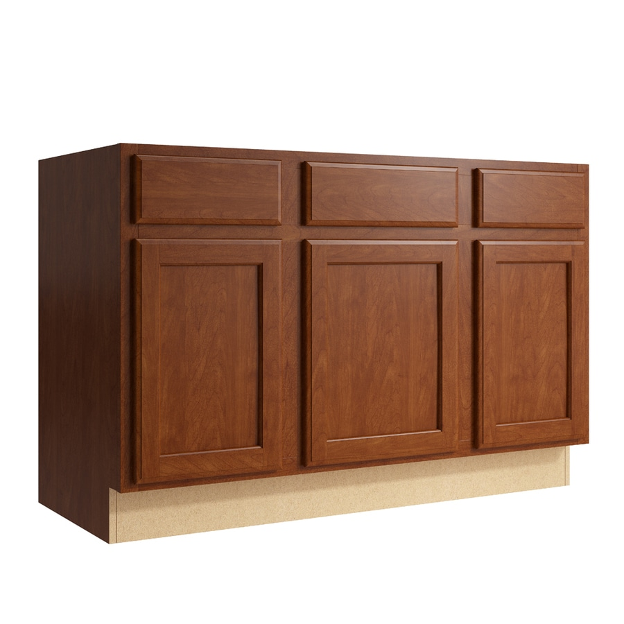 KraftMaid Momentum Sable Kingston 3-Door 2-Drawer Sink Base (Common: 48-in x 21-in x 31.5-in; Actual: 48-in x 21-in x 31.5-in)