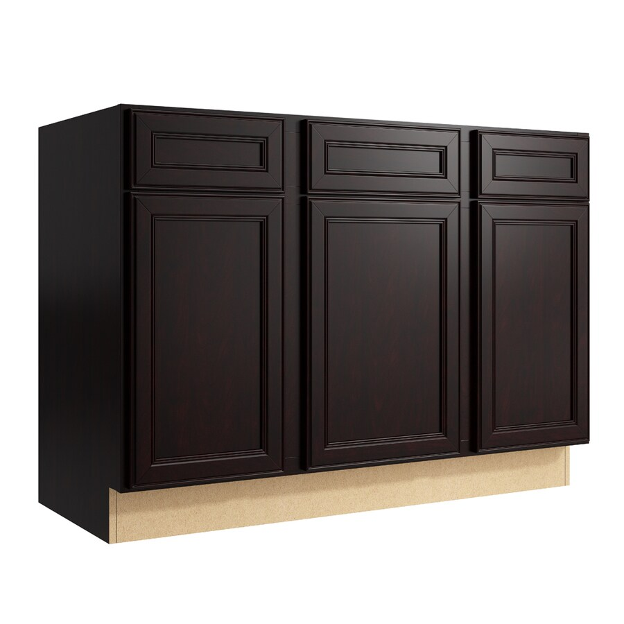 KraftMaid Momentum Kona Bellamy 3-Door 2-Drawer Sink Base (Common: 48-in x 21-in x 34.5-in; Actual: 48-in x 21-in x 34.5-in)