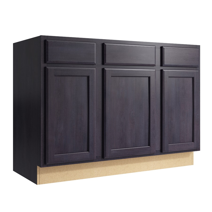 KraftMaid Momentum Dusk Kingston 3-Door 2-Drawer Sink Base (Common: 48-in x 21-in x 34.5-in; Actual: 48-in x 21-in x 34.5-in)