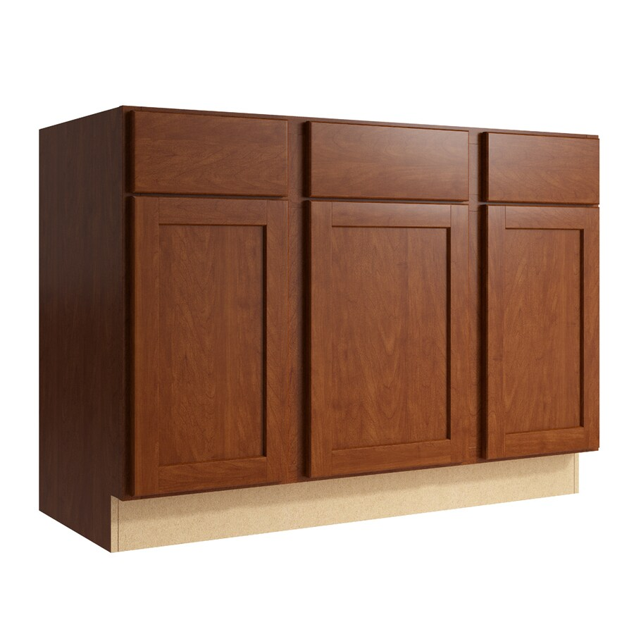 KraftMaid Momentum Sable Paxton 3-Door 2-Drawer Sink Base (Common: 48-in x 21-in x 34.5-in; Actual: 48-in x 21-in x 34.5-in)