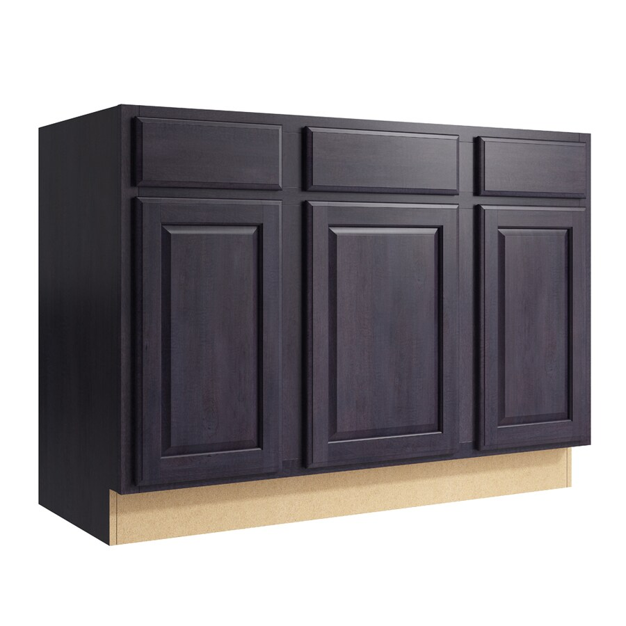 KraftMaid Momentum Dusk Settler 3-Door 2-Drawer Sink Base (Common: 48-in x 21-in x 34.5-in; Actual: 48-in x 21-in x 34.5-in)