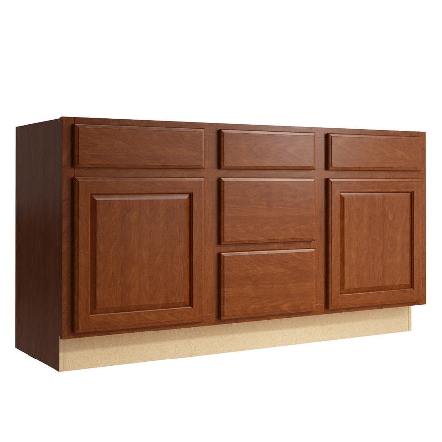KraftMaid Momentum Sable Settler 2-Door 3-Drawer Middle Sink Base (Common: 60-in x 21-in x 31.5-in; Actual: 60-in x 21-in x 31.5-in)