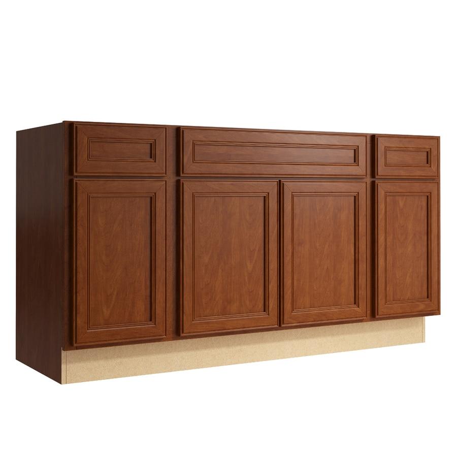 KraftMaid Momentum Sable Bellamy 4-Door 2-Drawer Sink Base (Common: 60-in x 21-in x 31.5-in; Actual: 60-in x 21-in x 31.5-in)