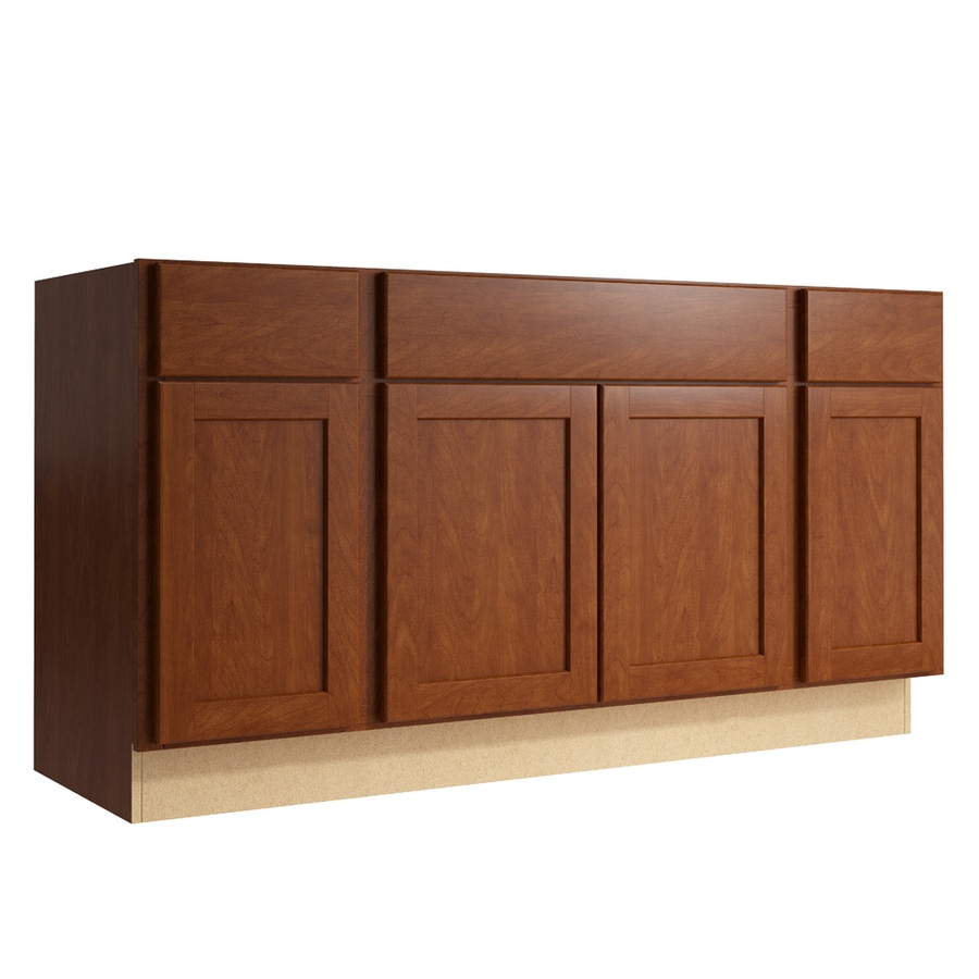 KraftMaid Momentum Sable Paxton 4-Door 2-Drawer Sink Base (Common: 60-in x 21-in x 31.5-in; Actual: 60-in x 21-in x 31.5-in)