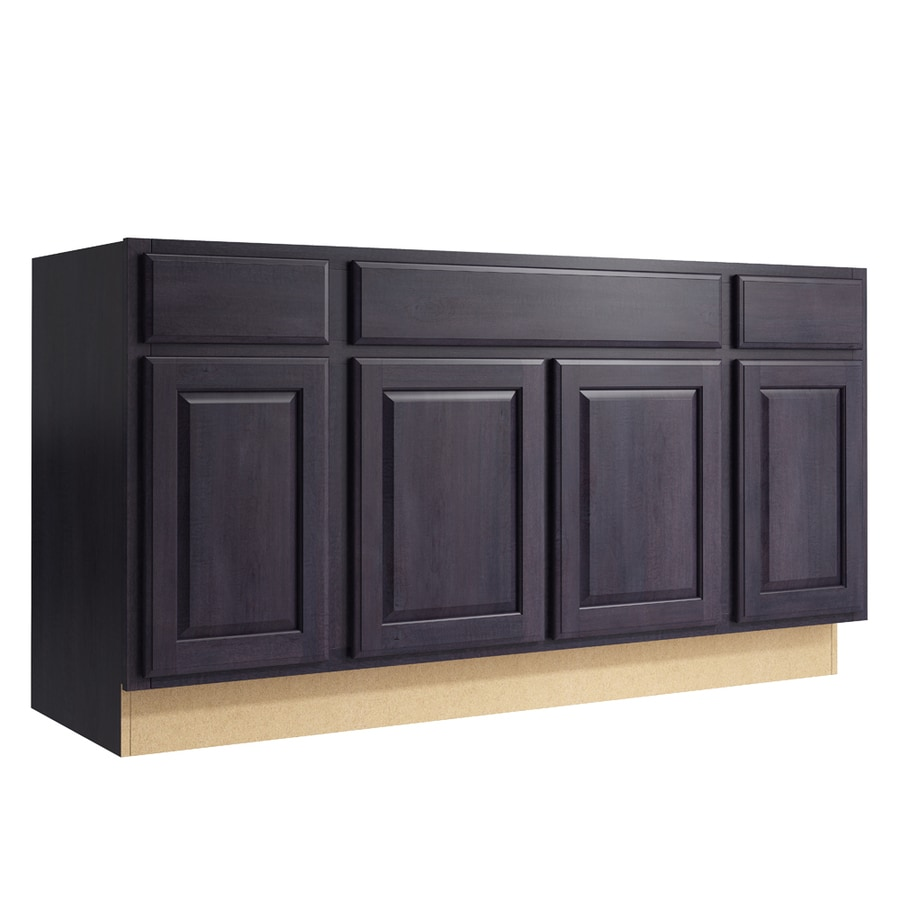 KraftMaid Momentum Dusk Settler 4-Door 2-Drawer Sink Base (Common: 60-in x 21-in x 31.5-in; Actual: 60-in x 21-in x 31.5-in)