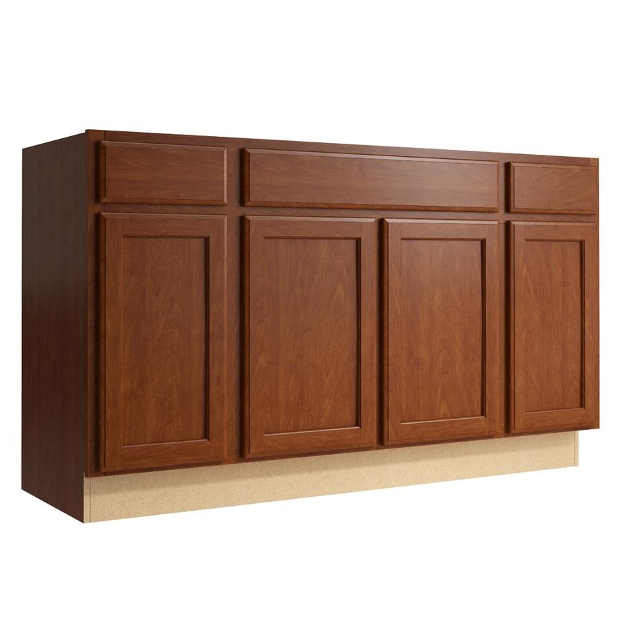 KraftMaid Momentum Sable Kingston 4-Door 2-Drawer Sink Base (Common: 60-in x 21-in x 34.5-in; Actual: 60-in x 21-in x 34.5-in)