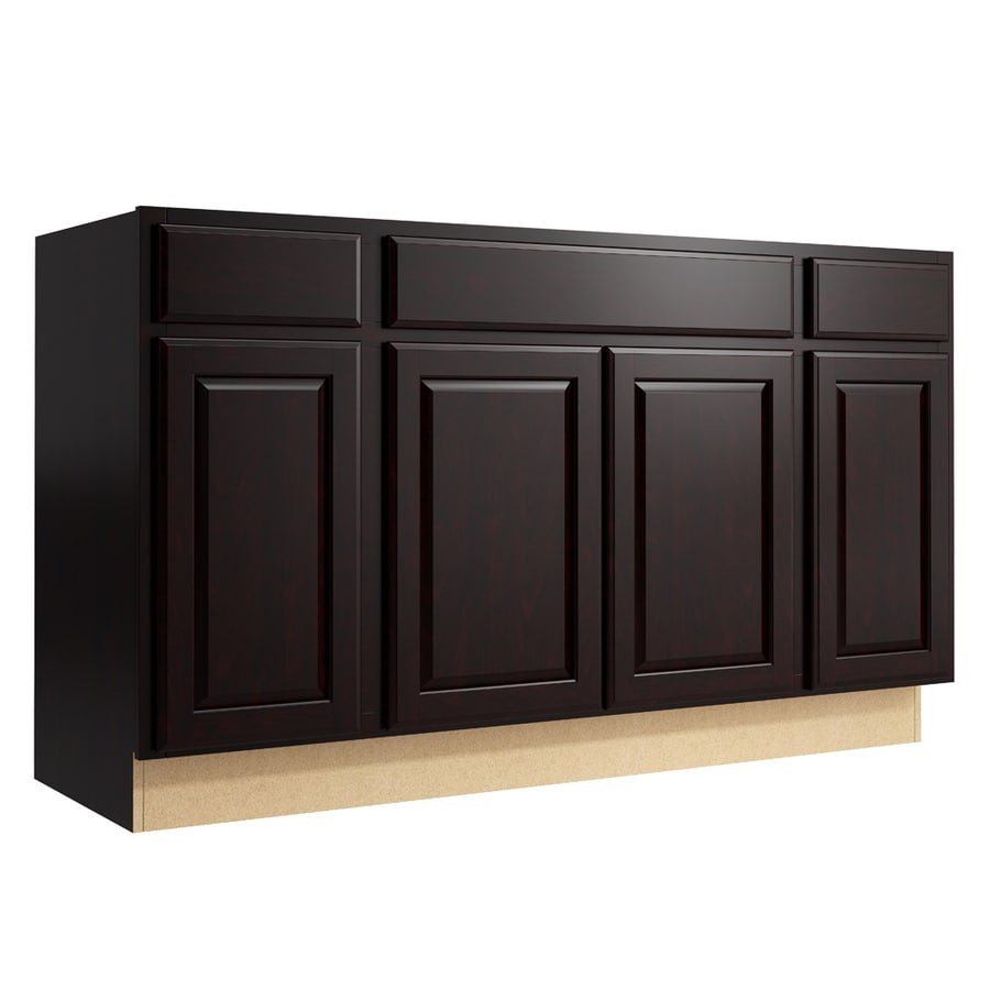 KraftMaid Momentum Kona Settler 4-Door 2-Drawer Sink Base (Common: 60-in x 21-in x 34.5-in; Actual: 60-in x 21-in x 34.5-in)