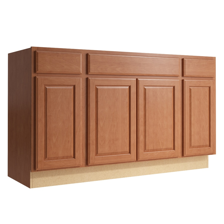 KraftMaid Momentum Hazelnut Settler 4-Door 2-Drawer Sink Base (Common: 60-in x 21-in x 34.5-in; Actual: 60-in x 21-in x 34.5-in)