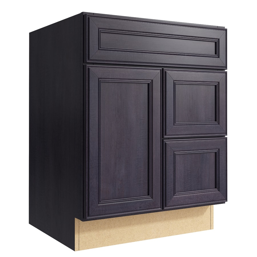 KraftMaid Momentum Dusk Bellamy 1-Door 2-Drawer Right Base Cabinet (Common: 24-in x 21-in x 31.5-in; Actual: 24-in x 21-in x 31.5-in)