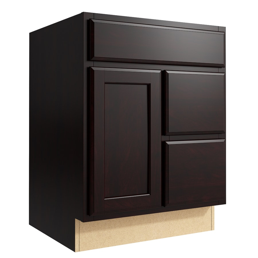 KraftMaid Momentum Kona Kingston 1-Door 2-Drawer Right Base Cabinet (Common: 24-in x 21-in x 31.5-in; Actual: 24-in x 21-in x 31.5-in)