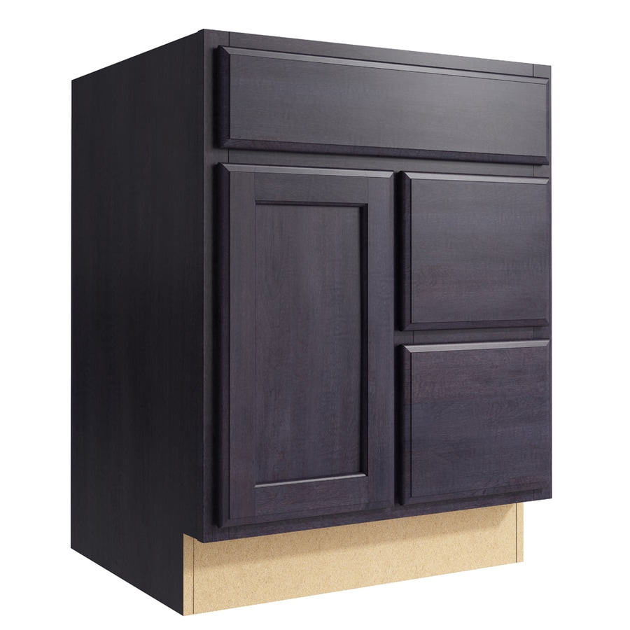 KraftMaid Momentum Dusk Kingston 1-Door 2-Drawer Right Base Cabinet (Common: 24-in x 21-in x 31.5-in; Actual: 24-in x 21-in x 31.5-in)