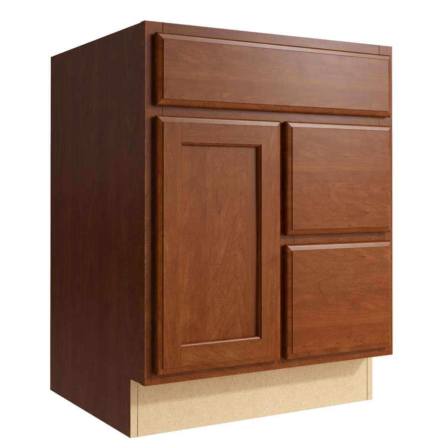 KraftMaid Momentum Sable Kingston 1-Door 2-Drawer Right Base Cabinet (Common: 24-in x 21-in x 31.5-in; Actual: 24-in x 21-in x 31.5-in)