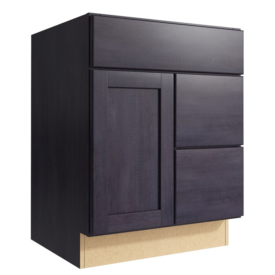 KraftMaid Momentum Dusk Paxton 1-Door 2-Drawer Right Base Cabinet (Common: 24-in x 21-in x 31.5-in; Actual: 24-in x 21-in x 31.5-in)