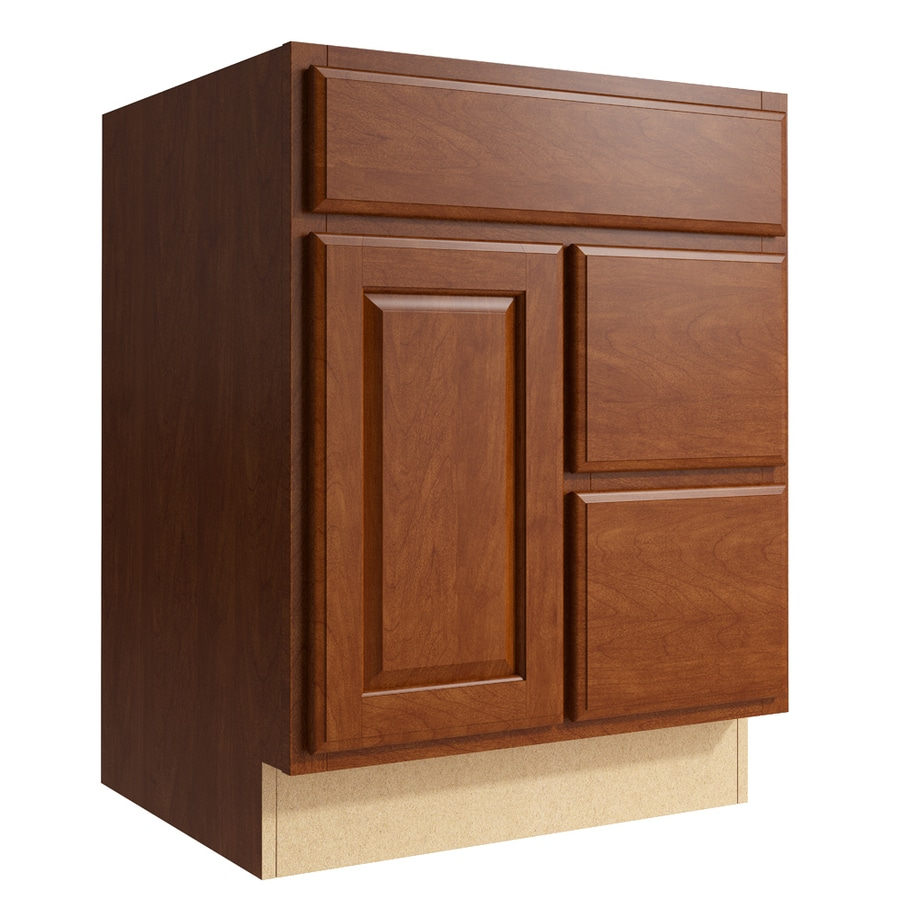KraftMaid Momentum Sable Settler 1-Door 2-Drawer Right Base Cabinet (Common: 24-in x 21-in x 31.5-in; Actual: 24-in x 21-in x 31.5-in)