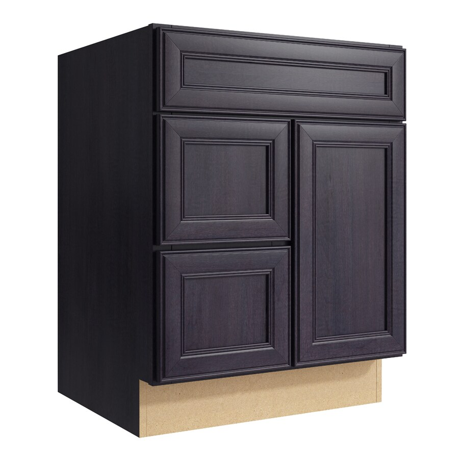 KraftMaid Momentum Dusk Bellamy 1-Door 2-Drawer Left Base Cabinet (Common: 24-in x 21-in x 31.5-in; Actual: 24-in x 21-in x 31.5-in)
