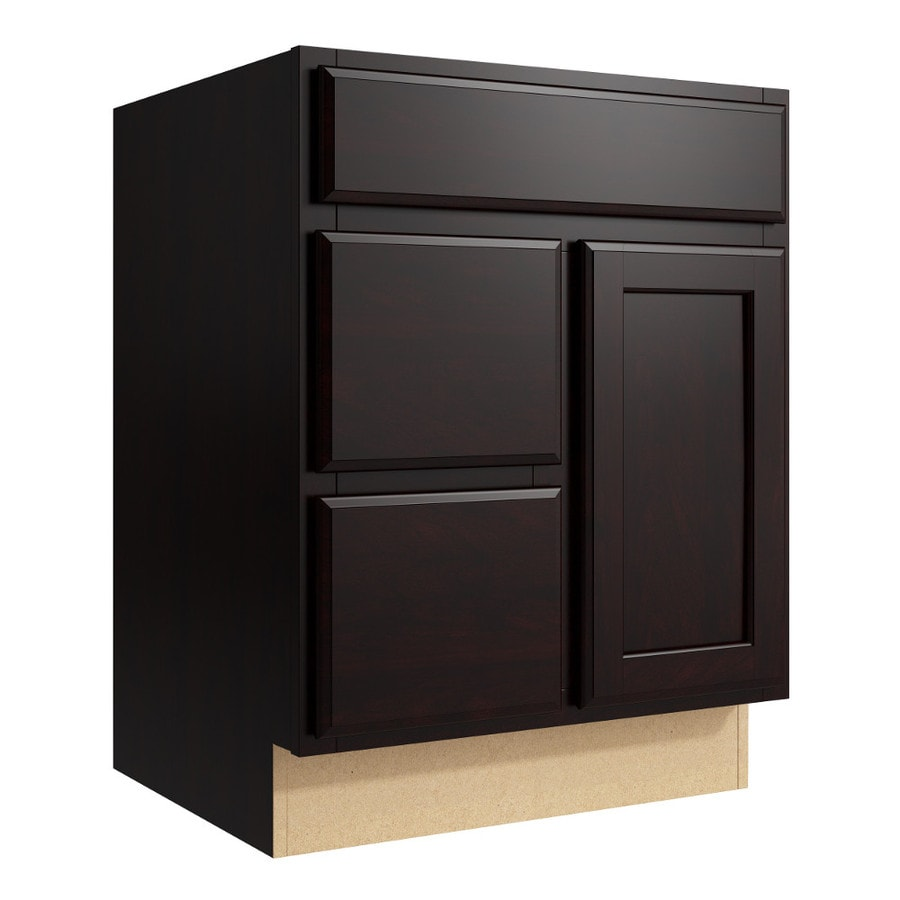 KraftMaid Momentum Kona Kingston 1-Door 2-Drawer Left Base Cabinet (Common: 24-in x 21-in x 31.5-in; Actual: 24-in x 21-in x 31.5-in)