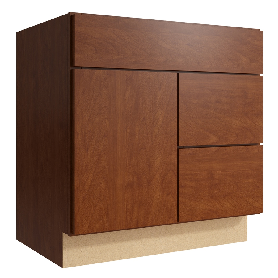 KraftMaid Momentum Sable Frontier 1-Door 2-Drawer Right Base Cabinet (Common: 30-in x 21-in x 31.5-in; Actual: 30-in x 21-in x 31.5-in)