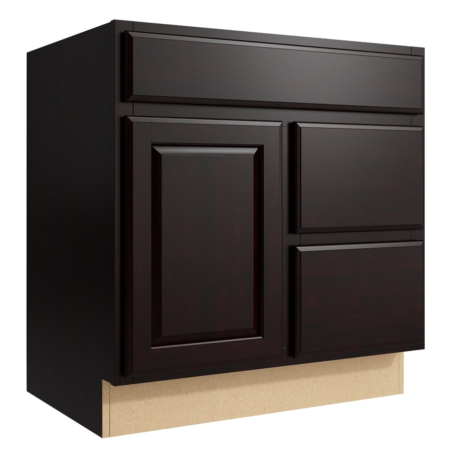 KraftMaid Momentum Kona Settler 1-Door 2-Drawer Right Base Cabinet (Common: 30-in x 21-in x 31.5-in; Actual: 30-in x 21-in x 31.5-in)
