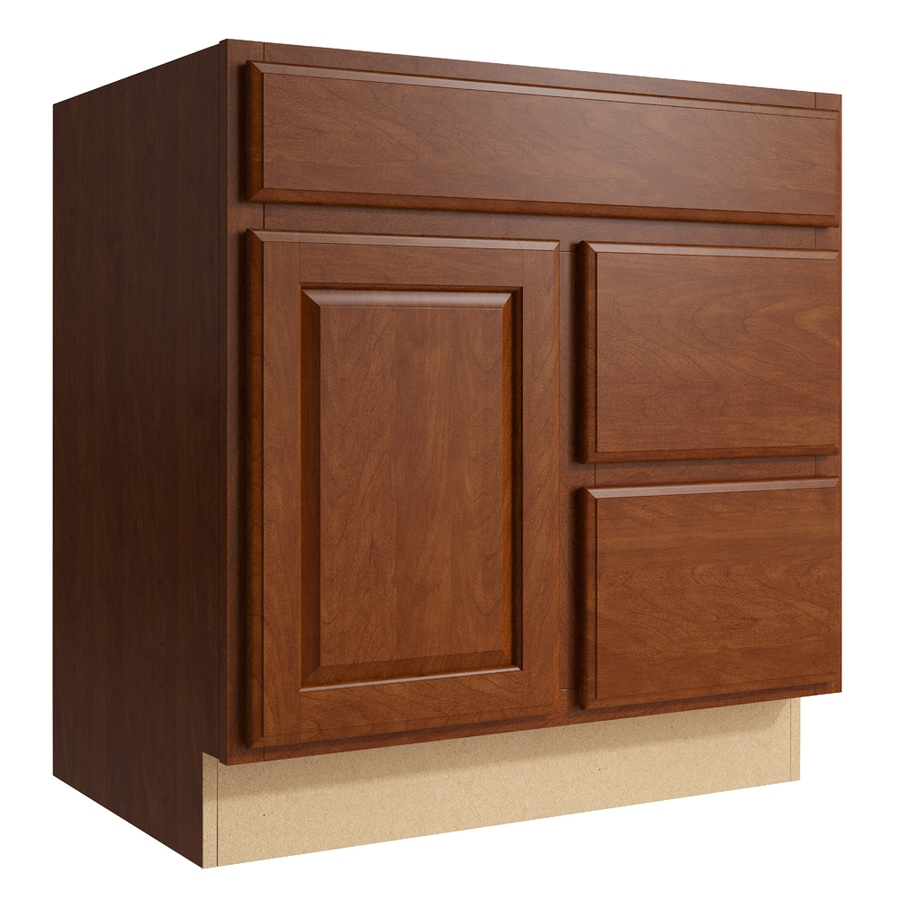 KraftMaid Momentum Sable Settler 1-Door 2-Drawer Right Base Cabinet (Common: 30-in x 21-in x 31.5-in; Actual: 30-in x 21-in x 31.5-in)
