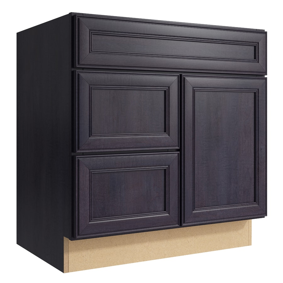 KraftMaid Momentum Dusk Bellamy 1-Door 2-Drawer Left Base Cabinet (Common: 30-in x 21-in x 31.5-in; Actual: 30-in x 21-in x 31.5-in)