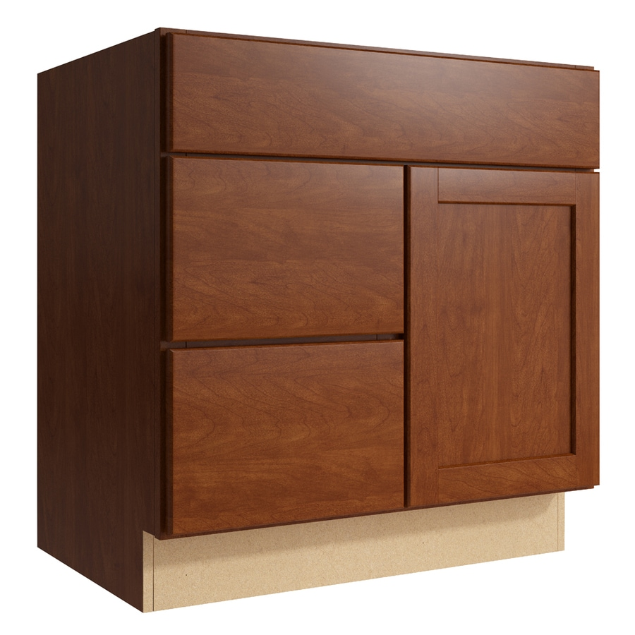 KraftMaid Momentum Sable Paxton 1-Door 2-Drawer Left Base Cabinet (Common: 30-in x 21-in x 31.5-in; Actual: 30-in x 21-in x 31.5-in)