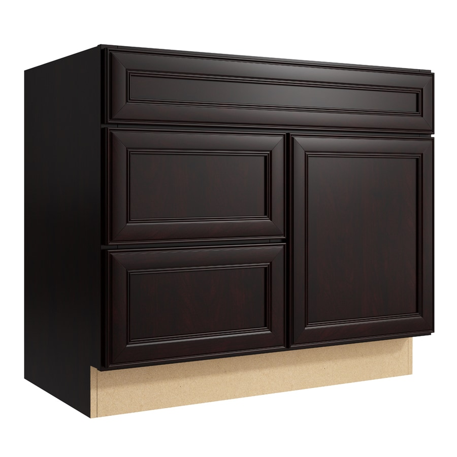 Shop KraftMaid Momentum Bellamy Kona Bathroom Vanity at Lowes.com