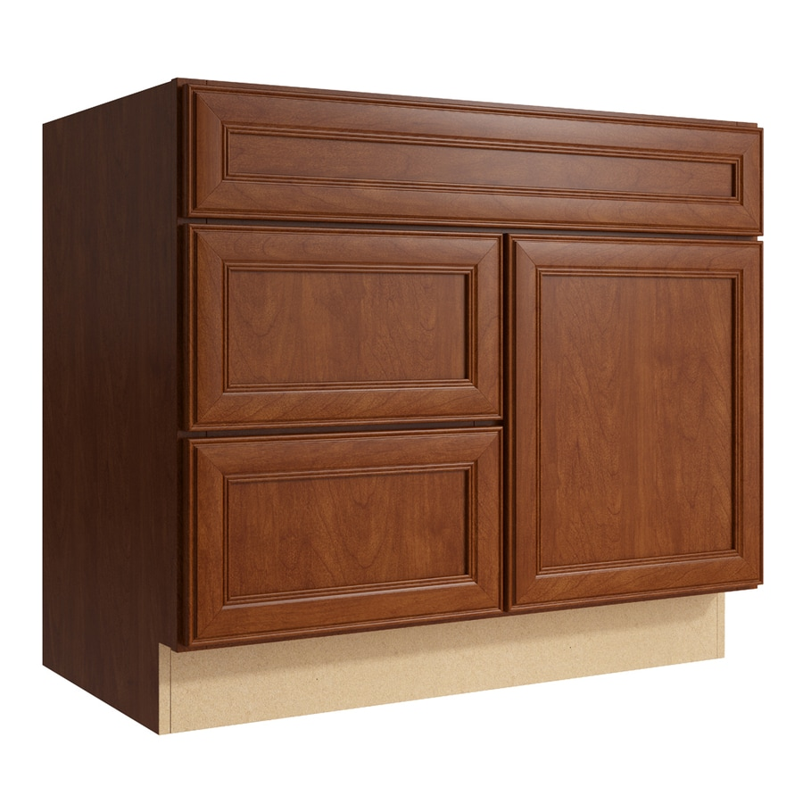 KraftMaid Momentum Sable Bellamy 1-Door 2-Drawer Left Base Cabinet (Common: 36-in x 21-in x 31.5-in; Actual: 36-in x 21-in x 31.5-in)