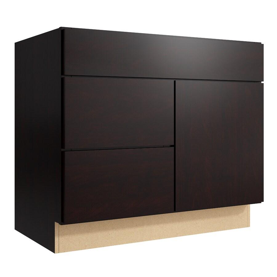 KraftMaid Momentum Kona Frontier 1-Door 2-Drawer Left Base Cabinet (Common: 36-in x 21-in x 31.5-in; Actual: 36-in x 21-in x 31.5-in)