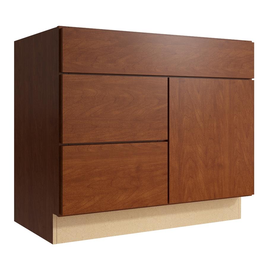 KraftMaid Momentum Sable Frontier 1-Door 2-Drawer Left Base Cabinet (Common: 36-in x 21-in x 31.5-in; Actual: 36-in x 21-in x 31.5-in)