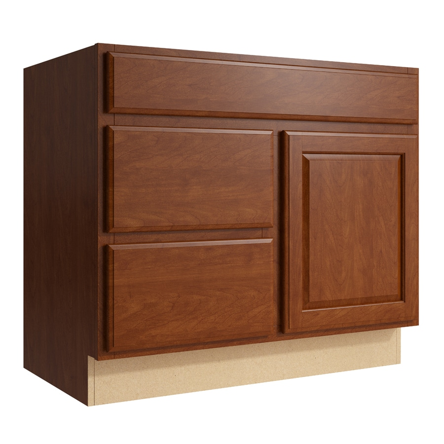 KraftMaid Momentum Sable Settler 1-Door 2-Drawer Left Base Cabinet (Common: 36-in x 21-in x 31.5-in; Actual: 36-in x 21-in x 31.5-in)